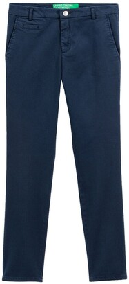 Benetton Cotton Straight Trousers