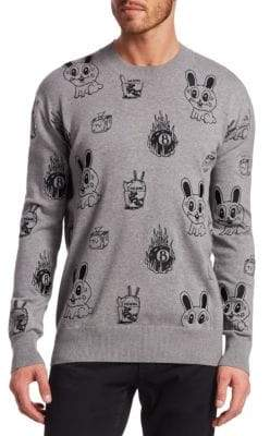 McQ Bunny Sticker Crewneck Sweater