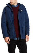 Franklin & Marshall Men's Nylon/Sherpa Primaloft Padded Label Applique Long Sleeve Coat