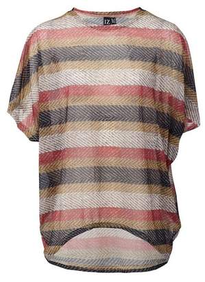 Dorothy Perkins Womens *Izabel London Multi Colour Striped Batwing Top, Multi Colour