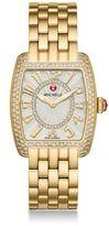 Michele Urban Mini Diamond & Goldtone Stainless Steel Bracelet Watch