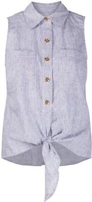 MICHAEL Michael Kors Striped Tie-Waist Shirt