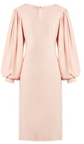 Osman Maddy balloon-sleeved crepe midi dress