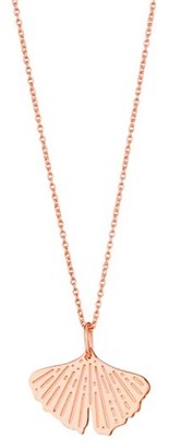 ginette_ny Gingko 18K Rose Gold Mini Pendant Necklace
