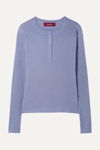 Sies Marjan Kate Ribbed Metallic Wool-blend Sweater