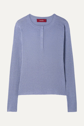 Sies Marjan Kate Ribbed Metallic Wool-blend Sweater
