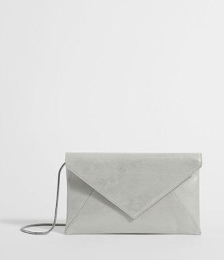 AllSaints Glitz Leather Clutch Bag