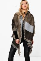 Boohoo Edie Colour Block Oversized Blanket Scarf