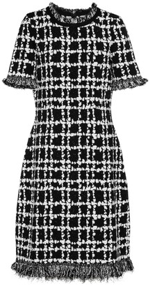 Oscar de la Renta Checked boucle tweed minidress