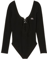 PINK University Of Georgia Lace-Up Bodysuit