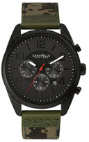 Caravelle NY Black Dial Stainless Steel Watch, 44mm