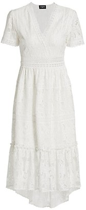 The Kooples Lacey Short-Sleeve Midi Dress