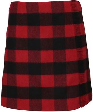 Woolrich Patterned Wool Skirt