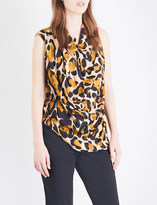 Anglomania Leopard-print sleeveless woven top
