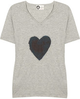 Lanvin Appliquéd cotton-blend T-shirt