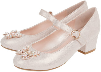 Monsoon Vienna Pearly Butterfly Shoes Pink