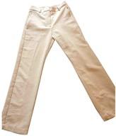 Sessun White Velvet Trousers for Women