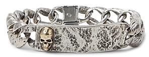 John Varvatos Collection Sterling Silver & Brass Skulls & Daggers I.d. Bracelet