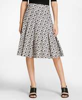 Brooks Brothers Floral Eyelet Cotton Godet Skirt