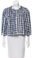 Yves Salomon Vinchy Gingham Mink Jacket