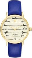 Kate Spade Women's Metro Blue Leather Strap Watch 34mm KSW1238