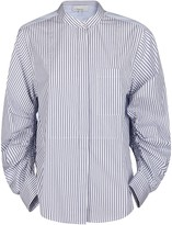 3.1 Phillip Lim Rouched Sleeves Pinstripe Shirt