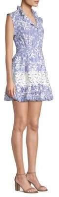 Alexis Olya Striped Ruffle Dress