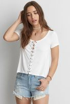 American Eagle Outfitters AE Soft & Sexy Lace-Up T-Shirt