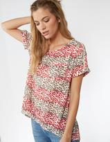Fat Face Zoe Floral Stripe Longline Top