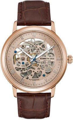 Kenneth Cole New York Men's Automatic Brown Strap Watch