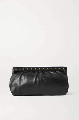 Isabel Marant Luz Studded Leather Clutch - Black