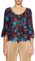 Plenty by Tracy Reese Flounce Sleeve Peplum Blouse