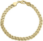 JCPenney FINE JEWELRY 10K Gold 4.9mm 7.25 Double Rope Bracelet