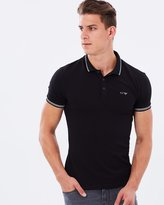 Armani Jeans Tipping Stripe Polo Shirt