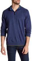Robert Graham Baines Long Sleeve Front Zip Wool Pullover