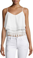 Glamorous Layered Lace-Trim Tank Top, Cream