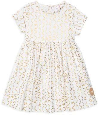 Smiling Button Little Girl's & Girl's Confetti Sunday Cotton Dress