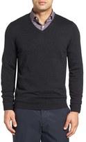 Men's Big & Tall John W. Nordstrom Merino Wool V-Neck Sweater