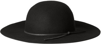 San Diego Hat Company San Diego Hat Co. Women's 100% Wool Floppy Brim Round Hat with Faux Suede Band
