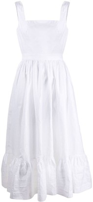 Alexander McQueen Flared Linen Midi Dress