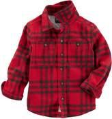 Osh Kosh Oshkosh Bgosh Boys 4-12 Flannel Plaid Button Down Shirt