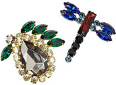 Marni Set of two crystal brooches