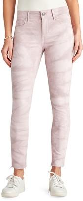 Sam Edelman Kitten Tie Dye Raw Hem Ankle Skinny Jeans