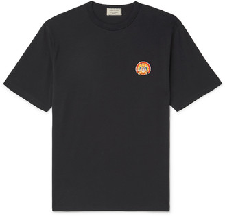 MAISON KITSUNÉ Appliqued Cotton-Jersey T-Shirt