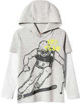 Joe Fresh Kid Boys' Hooded Graphic Tee, Crimson (Size M)