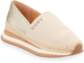 Tory Burch Daisy Metallic Slip-On Trainer Sneakers