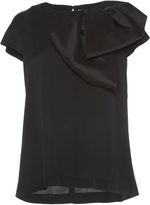 Dice Kayek Exaggerated Bow Top