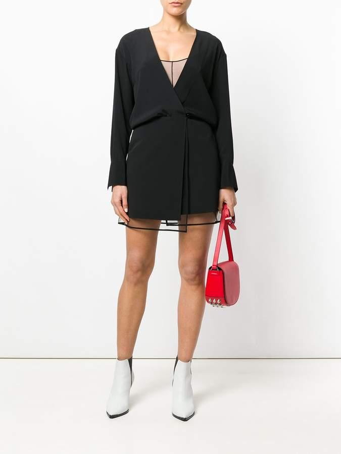 Alexander Wang layered mini wrap dress