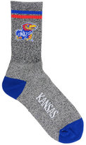 For Bare Feet Kansas Jayhawks Two Stripe Socks
