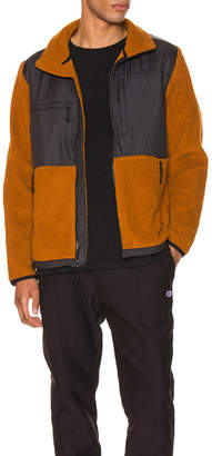 The North Face Black Box Denali Fleece Jacket in Caramel Cafe & TNF Black   FWRD